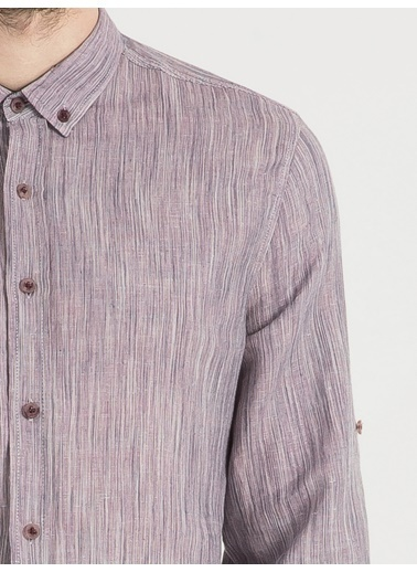 Loft Uzun Kollu Gömlek Mor
